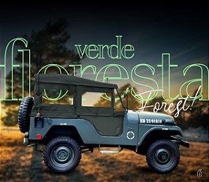 Capota Jeep Militar fixa dupla face Verde Floresta