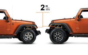 KIT LIFT JEEP WRANGLER JK DE 2 POLEGADAS