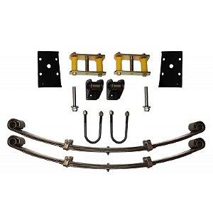 Kit Feixe de Molas Dianteiro Toyota c/ Jumelo alto p/ Adaptar em Jeep - Somente para eixo dianteiro
