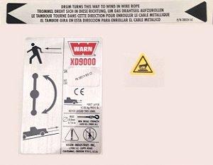 KIT DE IDENTIFICACAO GUINCHO WARN XD9000 CE SB