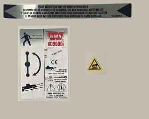 KIT DE IDENTIFICACAO GUINCHO WARN XD9000I CE SB