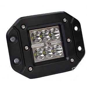 FAROL MILHA LED CREE LEDS 24W SPOT LENTES 3D EMBUTIR