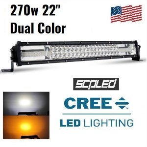 BARRA LED 270W 22 CURVA DUAL COLOR