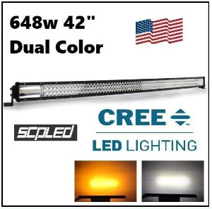 BARRA LED 648W 42 POL CURVA DUAL COLOR COM STROBO