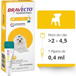 BRAVECTO CAES TRANSDERMAL > 2 A 4,5 KG (112,5 MG)