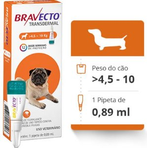 BRAVECTO CAES TRANSDERMAL > 4,5 A 10 KG (250 MG)