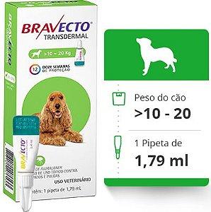 BRAVECTO CAES TRANSDERMAL > 10 A 20 KG (500 MG)