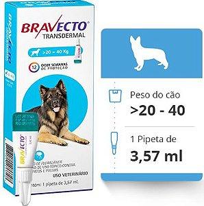BRAVECTO CAES TRANSDERMAL > 20 A 40 KG (1.000 MG)