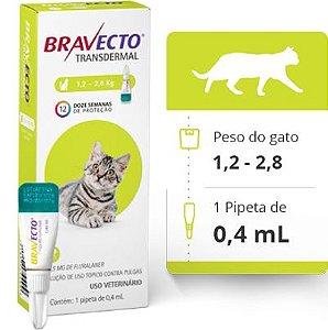 BRAVECTO GATOS TRANSDERMAL > 1,2 A 2,8 KG (112,5 MG)