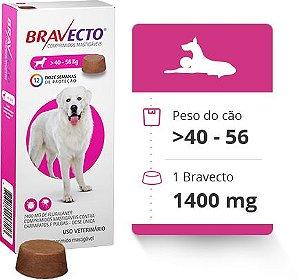 BRAVECTO 40 KG A 56 KG ( 1400 MG) -  Anti Pulgas e Carrapatos