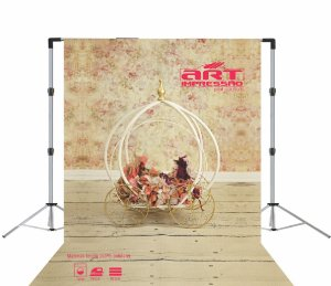 Fundo Fotográfico em Tecido Floral Carruagem