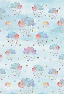 Fundo Fotográfico em Tecido Watercolor a Cloud
