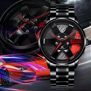 Relógio Nibosi Original Super Luxo Roda de Carro Ferrari