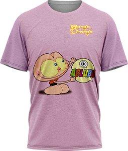 Mongo Abluba - Camiseta - Lilás- Malha Poliéster