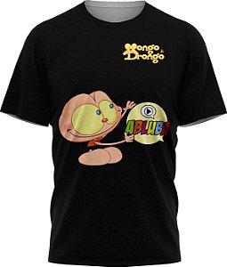 Mongo Abluba - Camiseta - Preta - Malha Poliéster