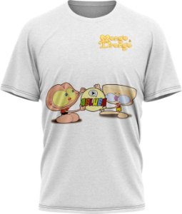Mongo e Drongo - Camiseta - Branca - Malha Poliéster
