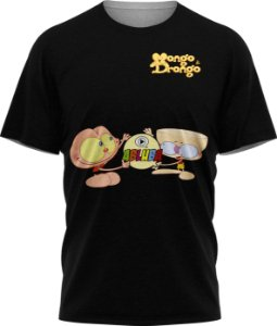 Mongo e Drongo - Camiseta - Preta - Malha Poliéster