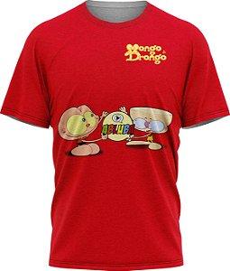 Mongo e Drongo - Camiseta - Vermelha - Malha Poliéster