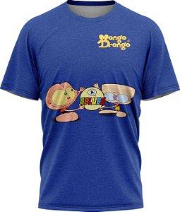 Mongo e Drongo - Camiseta  - Azul - Tecido Dryfit