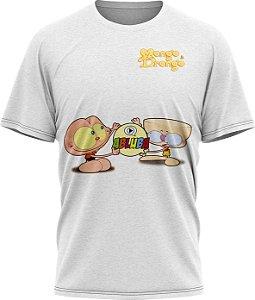 Mongo e Drongo - Camiseta  - Branca - Tecido Dryfit