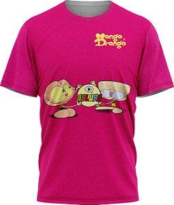 Mongo e Drongo - Camiseta  - Pink - Tecido Dryfit