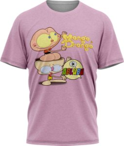 Mongo e Drongo Abluba - Camiseta - Lilás - Tecido Dryfit