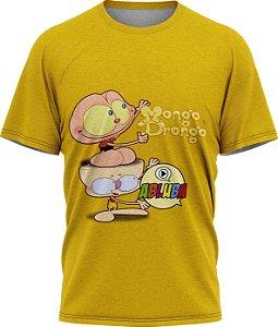 Mongo e Drongo Abluba - Camiseta - Amarela - Malha Poliéster