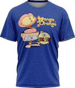 Mongo e Drongo Abluba - Camiseta - Azul - Malha Poliéster