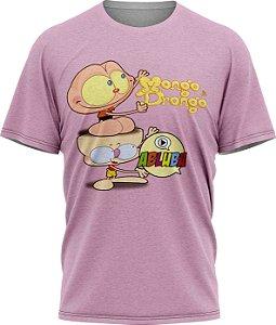 Mongo e Drongo Abluba - Camiseta - Lilás - Malha Poliéster