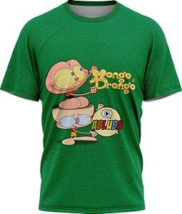 Mongo e Drongo Abluba - Camiseta - Verde - Malha Poliéster