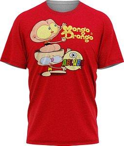Mongo e Drongo Abluba - Camiseta - Vermelha  Malha Poliéster