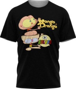 Mongo e Drongo Abluba - Camiseta - Preta - Malha Poliéster