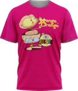 Mongo e Drongo Abluba - Camiseta - Pink - Malha Poliéster