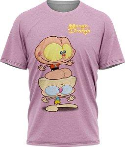 Mongo e Drongo Feliz - Camiseta - Lilás- Malha Poliéster