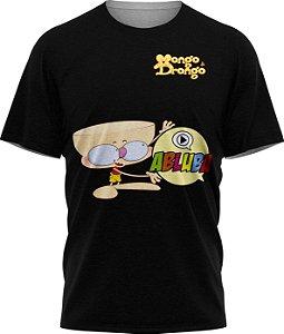 Drongo Abluba Feliz - Camiseta  - Preto - Tecido Dryfit