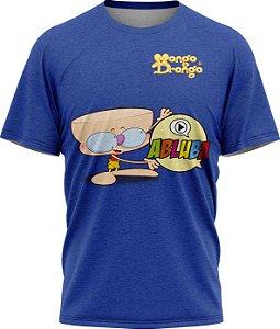 Drongo Abluba Feliz - Camiseta - Azul - Malha Poliéster