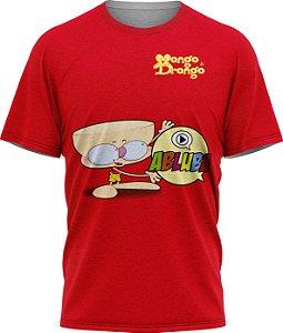 Drongo Abluba Feliz - Camiseta - Vermelho - Malha Poliéster