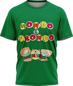 Mongo e Drongo Alfabeto - Camiseta - Verde - Malha Poliéster