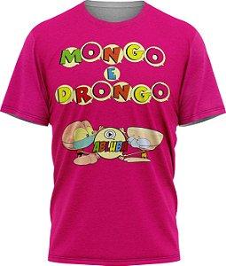 Mongo e Drongo Alfabeto - Camiseta - Pink - Malha Poliéster
