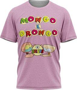 Mongo e Drongo Alfabeto - Camiseta - Lilás- Malha Poliéster