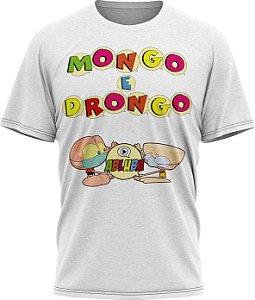 Mongo e Drongo Alfabeto - Camiseta - Branco- Malha Poliéster