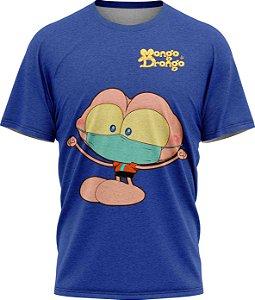 Mongo Máscara - Camiseta - Azul - Malha Poliéster