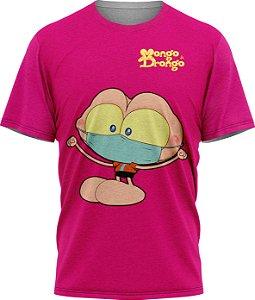 Mongo Máscara - Camiseta - Pink - Malha Poliéster