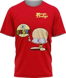Drongo Abluba - Camiseta - Vermelho - Malha Poliéster