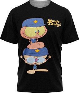 Mongo e Drongo Vigia - Camiseta - Preto - Malha Poliéster