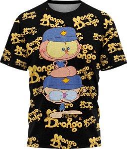 Mongo e Drongo Vigia Total - Camiseta - Preto - Malha Poliéster