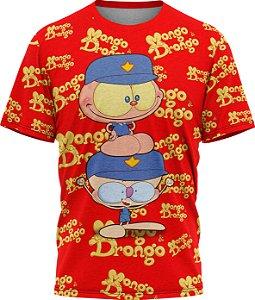 Mongo e Drongo Vigia Total - Camiseta - Vermelho - Malha Poliéster