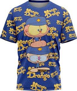 Mongo e Drongo Vigia Total - Camiseta- Azul- Malha Poliéster