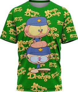 Mongo e Drongo Vigia Total- Camiseta- Verde- Malha Poliéster