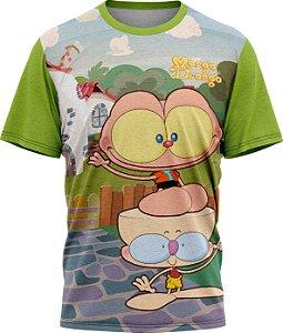Mongo e Drongo Voltam pra Casa - Camiseta - Malha Poliéster